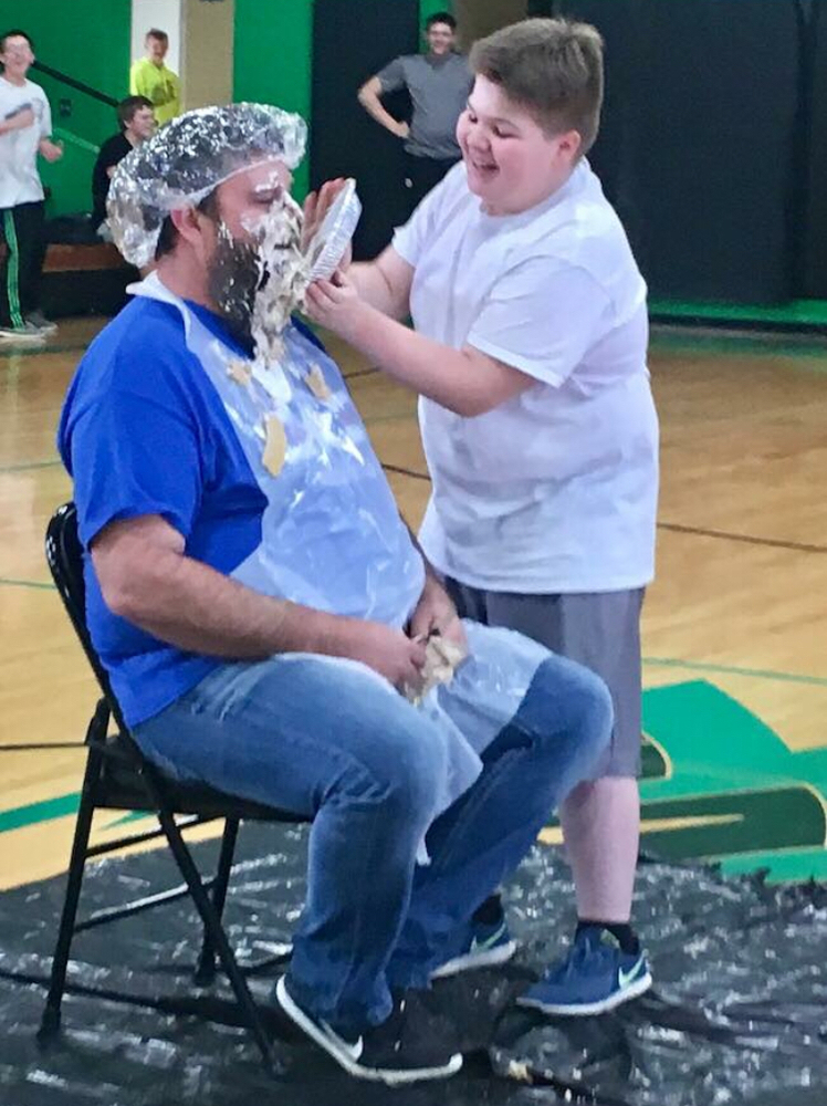 "Mr. Stokes gets a ""Pie in the Face"""