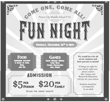 Middle School Family Fun Night